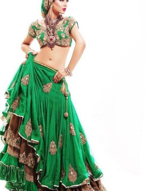 Royal Bride Sea Green Lehnga