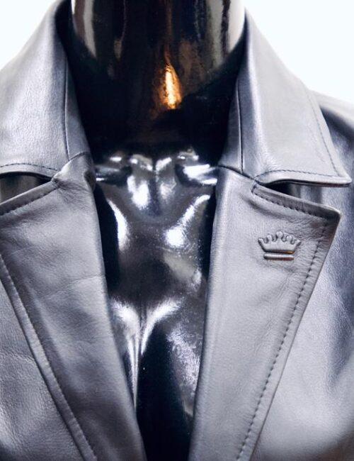 Leather Black Coat